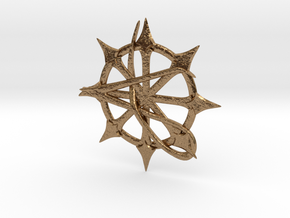 Anarchy Star pendant in Natural Brass
