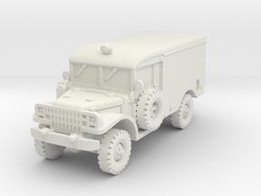 Dodge M43 Ambulance 1/100 in White Natural Versatile Plastic