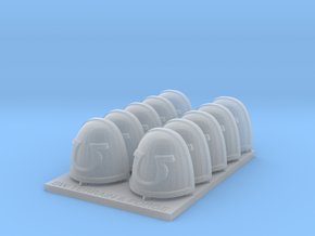 Ultra Corp V7 Rimmed Style Shoulder Pads in Smooth Fine Detail Plastic