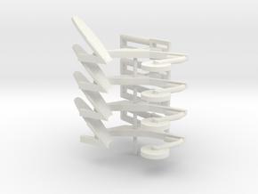 WHITE/OLIVER MOLDBOARD BOTTOMS X 4 in White Natural Versatile Plastic