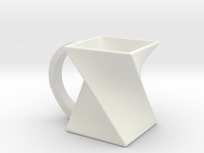 Twist Mug in White Natural Versatile Plastic