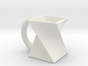 Twist Mug in White Natural Versatile Plastic