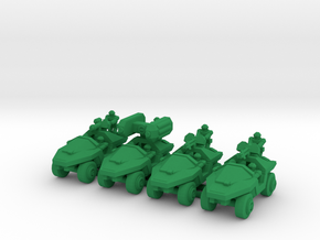 Infantry Support Vehicles v2 in Green Processed Versatile Plastic: Small