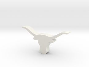 UT Longhorn in White Strong & Flexible