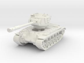 M46 Patton 1/87 in White Natural Versatile Plastic