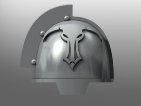 Grievous ptrn Shoulder Pads: Daedalus Beasts in Smooth Fine Detail Plastic: Small