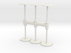 Bar Table (x6) 1/56 in White Natural Versatile Plastic