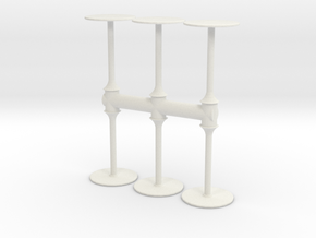 Bar Table (x6) 1/43 in White Natural Versatile Plastic