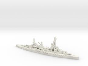 French Bretagne-Class Battleship in White Natural Versatile Plastic: 1:1800