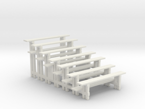 Printle Thing Bleachers - 2 Vertical - 1/32 in White Natural Versatile Plastic