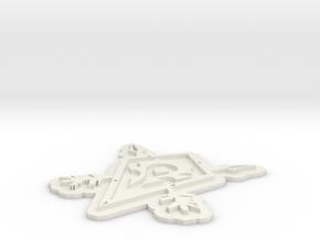 WOW: Horde Emblem  in White Natural Versatile Plastic