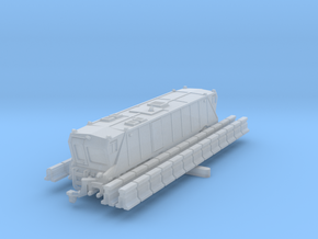 Road Zipper barrier mover transfer in Smoothest Fine Detail Plastic: 6mm