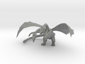 Ghidorah kaiju monster miniature for games & rpg in Gray PA12