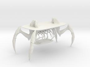 Human crab table in White Natural Versatile Plastic: 1:10