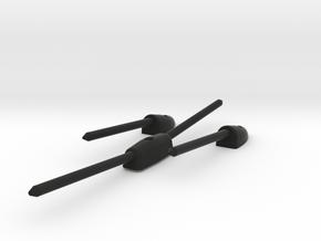 Triumph Spitfire TR4 Sun Visor Brackets in Black Natural Versatile Plastic