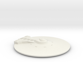1/1000 USS Ares NCC-1650 Saucer Top in White Natural Versatile Plastic
