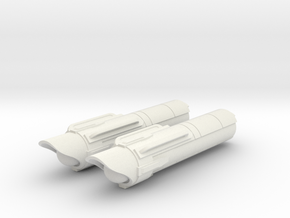 1/1000 USS Ares NCC-1650 Nacelles in White Natural Versatile Plastic