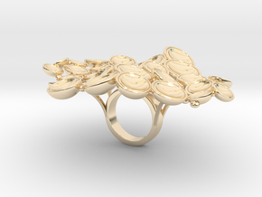 Mantole_small_STL in 14k Gold Plated Brass
