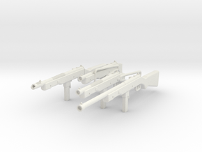 Reising Submachine Gun - Family - 1:18 in White Natural Versatile Plastic