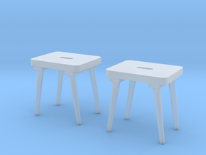 Military Stool - Barracks, Style I - Pegs 1:16 in Smooth Fine Detail Plastic