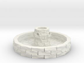 Water Fountain 1/72 in White Natural Versatile Plastic