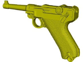 1/16 scale Luger P-08 Parabellum 1908 pistol x 1 in Smooth Fine Detail Plastic