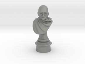 Ivory Gandhi v1 in Gray PA12: Medium
