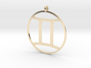Zodiac pendant Gemini 21 May - 21 Jun in 14k Gold Plated Brass