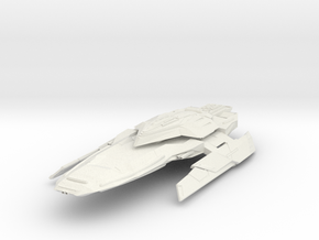 "Federation Strike Class  StrikeDestroyer 4.7"" long in White Natural Versatile Plastic"