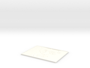 Hawking Square lithophane in White Processed Versatile Plastic