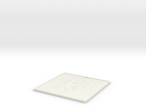 Newton Square Lithopane in White Strong & Flexible