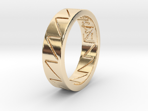 Crazy V Design Size 7 by Kris Kitchen in 14K Yellow Gold