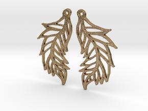 :Featherflight: Earrings in Polished Gold Steel