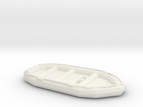 1/35 Scale 10 Person Inflatable Landing Boat in White Natural Versatile Plastic