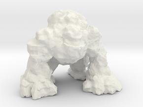 stone giant kaiju monster miniature for games rpg in White Natural Versatile Plastic