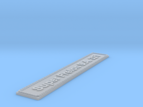 Nameplate Super Frelon S.A. 321 in Smoothest Fine Detail Plastic