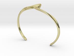 Cinder cuff in 18k Gold Plated Brass