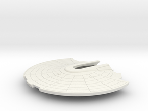 1/1000 USS Ranger Saucer Detailed Ver.2 in White Natural Versatile Plastic