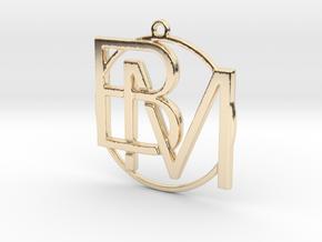 B&M Monogram Pendant in 14k Gold Plated Brass