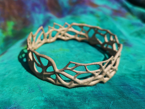 Bangle - Rooted Collection in Matte Bronzed-Silver Steel