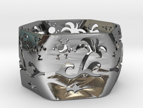 Beach Ring in Polished Silver