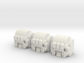 RiD Grimlock Head for Siege Brunt in White Natural Versatile Plastic: Large