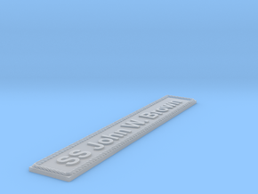 Nameplate SS John W. Brown in Smoothest Fine Detail Plastic