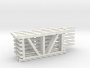 36X72 & 96 Beam Kit 1-87 HO Scale in White Natural Versatile Plastic