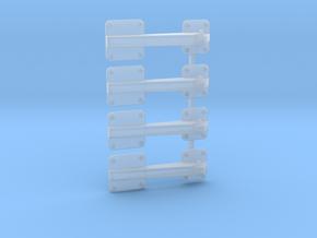 EC135 Rear Door Hinge (x4) 1/4 in Smooth Fine Detail Plastic