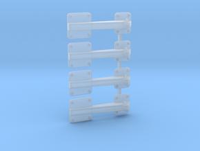 EC135 Rear Door Hinge (x4) 1/6 in Smooth Fine Detail Plastic