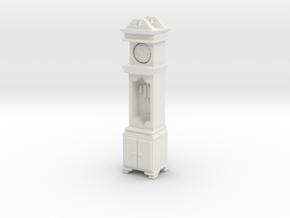 Pendulum Clock 1/48 in White Natural Versatile Plastic