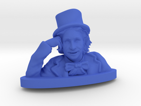 Please Tell Me More in Blue Processed Versatile Plastic