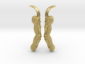 Raven Claw Talon Ear Climber Earrings in Natural Brass