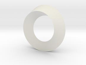 tri mobius in White Natural Versatile Plastic